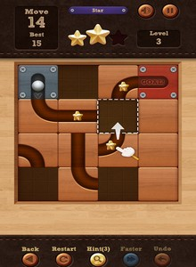 Game Roll The Ball slide puzzle -1