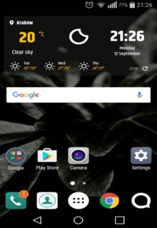 Simple Weather & Clock Widget 2